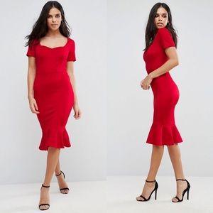 ASOS Club L Scuba Sweetheart Dress
